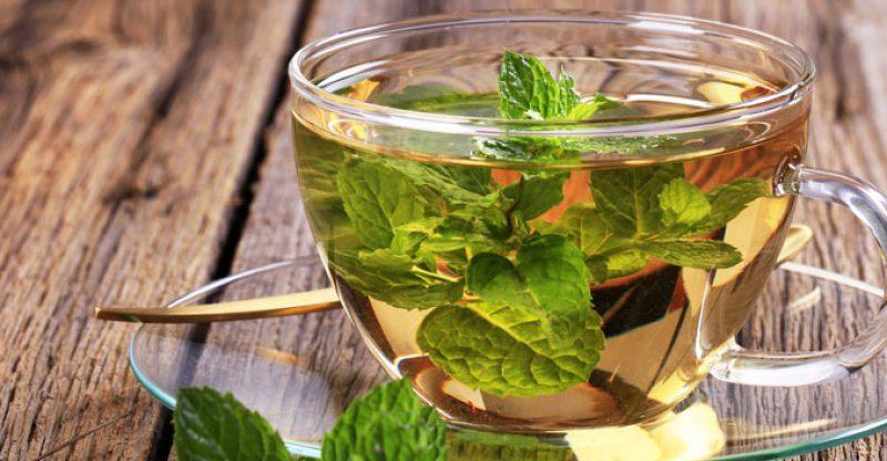 green tea, mint, orange, detox