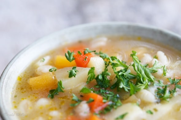 Farmhouse stew with vegetables